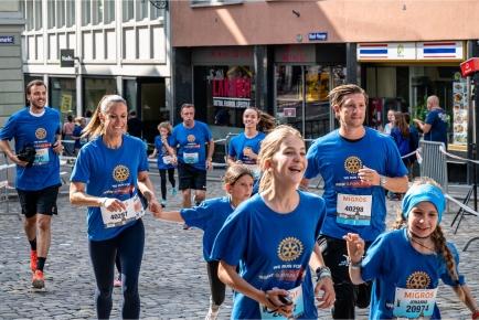 Über 140 rotarische Läuferinnen und Läufer haben am Charitylauf mitgemacht