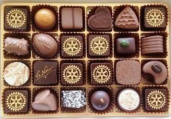 I cioccolatini Rotary di Läderach Chocolatier